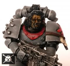 Horus Heresy Space Wolf face detail